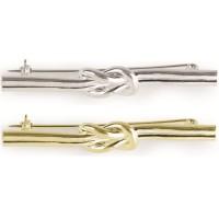 Spilla con motivo doppio nodo per plastron placcato oro o argento-8585-20